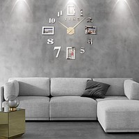 Modern Acrylic Photo Frame Wall Clock In 10 Appealing Colors