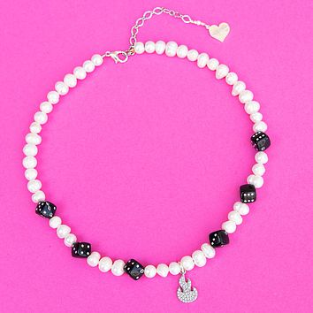 Pearl Lucky Flame Necklace
