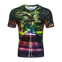 New Nice Scenery T-shirt for men/women 3d tshirt print  forest green trees casual tops cool t shirt Large size clothing