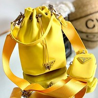 PRADA classic bucket bag two piece set Miuccia Prada mini bag