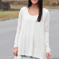 Wrapped in Lace Knit {Natural}
