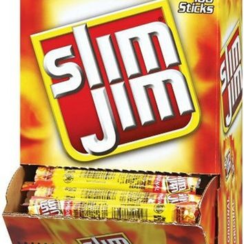 Slim Jim Smoked Snack Sticks, Original, 0.28-Oz (Pack of 100)