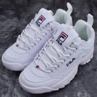 FILA Women Trending Fashion Casual Running Sport Casual Shoes Sneakers White G-SLXM-YJDF