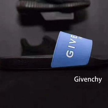 GIVENCHY PARIS andals Comfortable Loose Blue Slippers