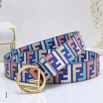 FENDI New Fashion Couple More Letter Leather Buckle Belt