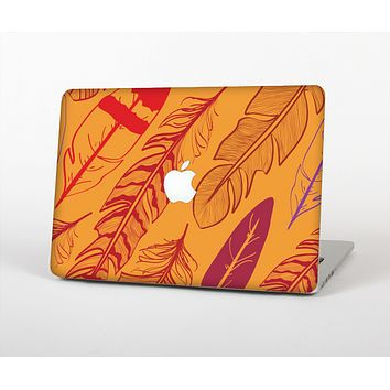 The Orange and Red Vector Feathers Skin for the Apple MacBook Air 13""