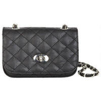 Quilted Turnlock Crossbody -