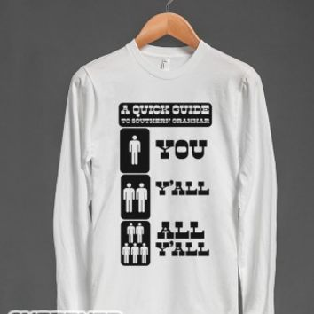 Quick Guide to Southern Grammar-Unisex White T-Shirt