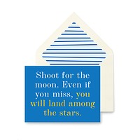 Shoot For The Moon Greeting Card, Single Folded Card or Boxed Set of 8