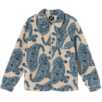 Big Paisley Full Zip Sherpa Natural