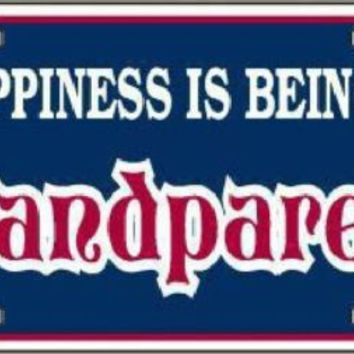 Happiness is Being a Grandparent Car Truck License Plate Tag