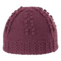 Isis Cable Beanie Hat - Wool, Microfleece Lining (For Women) - BEET