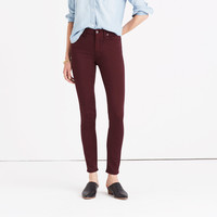 "9"" High-Rise Skinny Sateen Jeans"