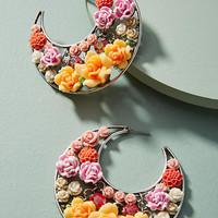 Garden Menagerie Hoop Earrings