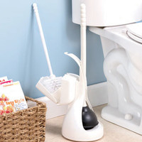 2-In-1 Brush and Plunger Caddy
