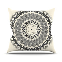 "Famenxt ""Black & White Boho Mandala"" Geometric Throw Pillow"