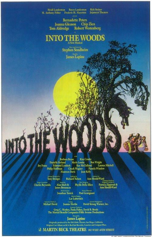 Image of Into the Woods 11x17 Broadway Show Poster (1987)