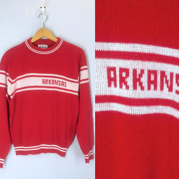 Vintage 1970s Arkansas Razorbacks Sweater, College Sweater, Hog Sweater, Arkansas Sweater, College Sports, University of Arkansas