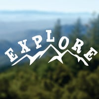 EXPLORE Decal, Mountains Vinyl Sticker, Car Window Decal, Laptop Decal, Water Bottle Decal, Phone Decal, Bumper Sticker, Adventure Decal
