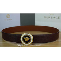 VERSACE Fashion Smooth Buckle Belt Leather Contracted Belt G-A-GFPDPF