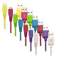 Importer520™ 7in1 Combo Colorful 3Ft Micro USB Data Cable Charger for Samsung Galaxy i9300 i9100 i9220 i9000 S3 HTC One S / V / X / VL Phone Universal Mobile Phone MP3 MP4 F65