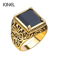 Retro Black Ring Classic Medieval Style Punk Gilded Men's Rings Free Shipping New LY Brand
