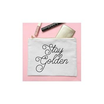 'Stay Golden' Cosmetic Bag