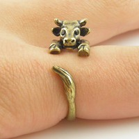 Gold Cow Wrap Ring