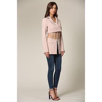 Elani Two Piece Blazer Featuring a Cropped Silhoette