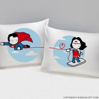 Made for Loving You™ His & Hers Couples Matching Pillowcases, Christmas Gifts,Romantic Anniversary Gifts,Wedding Gifts,Valentine's Day Gifts,Gifts for Him,Gifts for Her