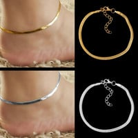 free shipping 1pcs 2016 Fashion Accessories Jewelry gold chain anklet, adjustable charm anklet,ankle leg bracelet,foot jewelry
