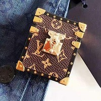 LV Louis Vuitton Newest Stylish iPhone Airpods Headphone Case Wireless Bluetooth Headphone Protector Case