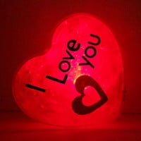 GlowHeart (I love you)- unique, cool geek, gift for him, valentines day gift