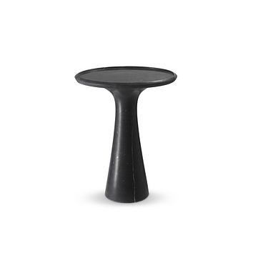 Solid Italian Black Marble Low Side Table | Eichholtz Pompano