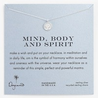 Women's Dogeared 'Mind, Body & Spirit' Om Pendant Necklace - Sterling Silver