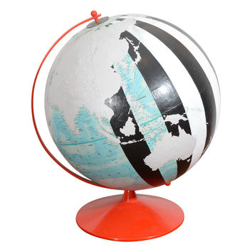 Vintage, Hand Painted Globe by Dylan Egon