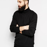 ASOS Roll Neck Sweater In Cotton