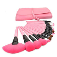 Professional Girl Pink Tone Makeup Cosmetic Brush Set Kit With Pouch