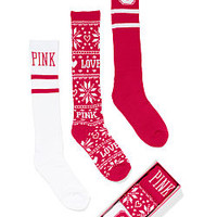 The Ohio State University 3-Pack Sock Gift Set - PINK - Victoria's Secret