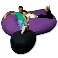 Micro Suede Theater Bean Bag Chair at Brookstone—Buy Now!