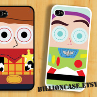 Buzz & Woody Case Toy Story Movie Parody -  iPhone 5 4 / 4s Galaxy Case Hard Plastic Case Rubber Case