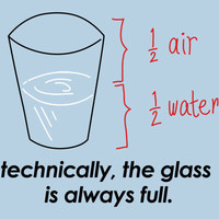 Technically, The Glass Is Always Full T-Shirt   SnorgTees