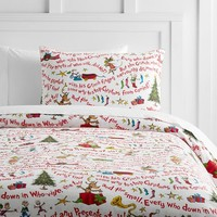 Grinch™ Words Of Who-Ville Flannel Duvet Cover + Sham