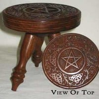 Altar Table : Pentagram 6 : Pagan Store, Wiccan Store, Witchcraft Store, An online Pagan, Wiccan and Witchcraft store