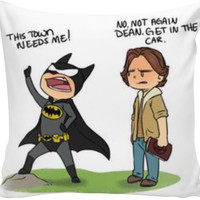 Sam and dean supernatural pillow