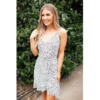 Aurora Spotted Mini Dress (Ivory)(FINAL SALE)