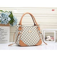 LV Louis Vuitton Women Fashion New Monogram Print Leather Shopping Leisure Shoulder Bag Handbag 4#
