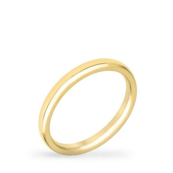 2 Mm Ipg Gold Stainless Steel Wedding Band, size : 09