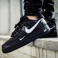 NIKE AIR FORCE 1 07 LOW Fashion New Couple Fashion Casual Wild Running Sports  Shoes Black