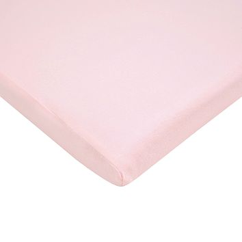 American Baby Company 100% Natural Cotton Value Jersey Knit  Fitted Bassinet Sheet, Pink, Soft Breathable, for Girls 1 Pack